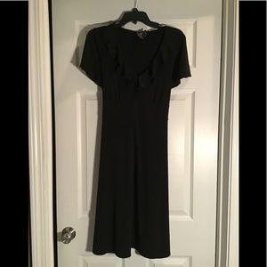 Size 12/14 black below knee dress with waist tie